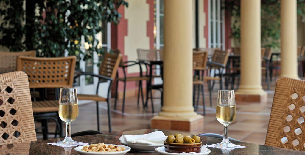 Enjoy your breakfast al fresco in the warm Spanish sun