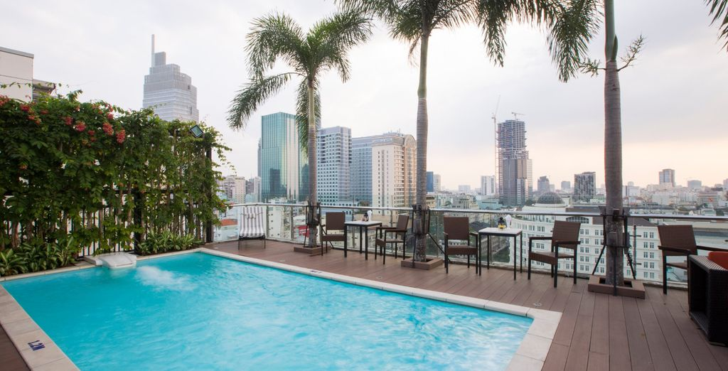 And take in the stunning sights (Pictured: Paragon Hotel in Ho Chi Minh City)