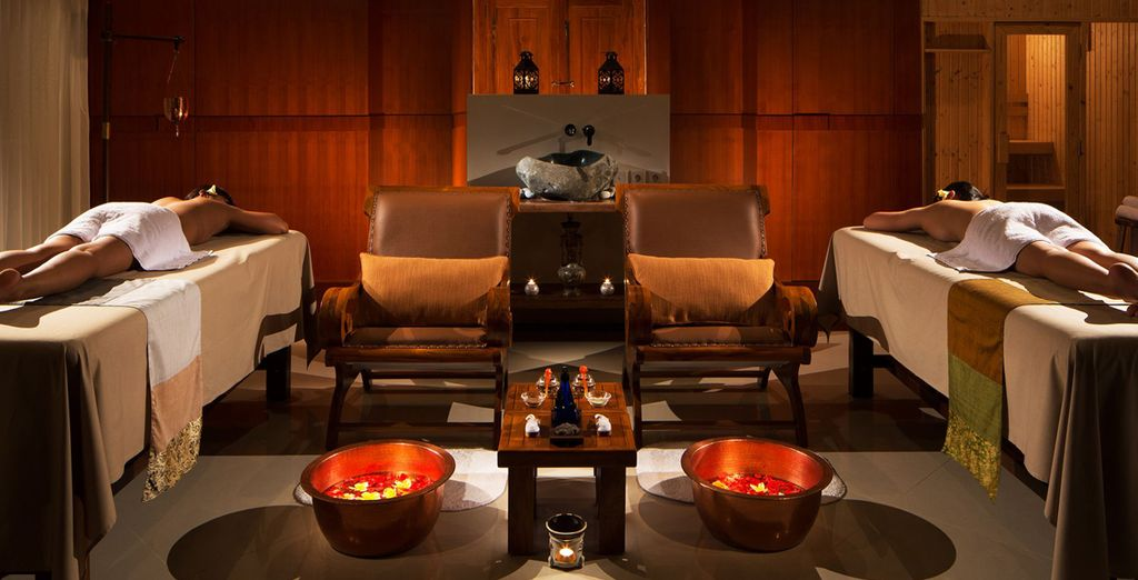 Relish the tranquil nature of the spa - you will receive a free 60 min massage
