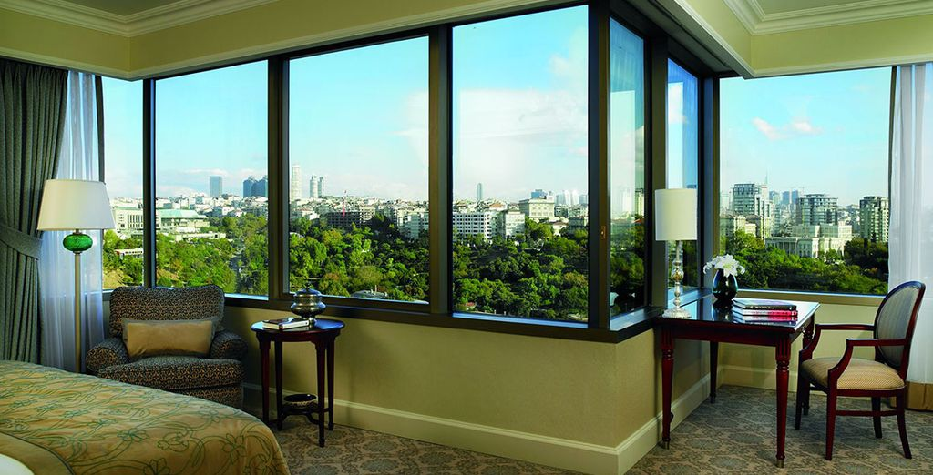 You'll stay in a fantastic Deluxe Partial Bosphorus View Room