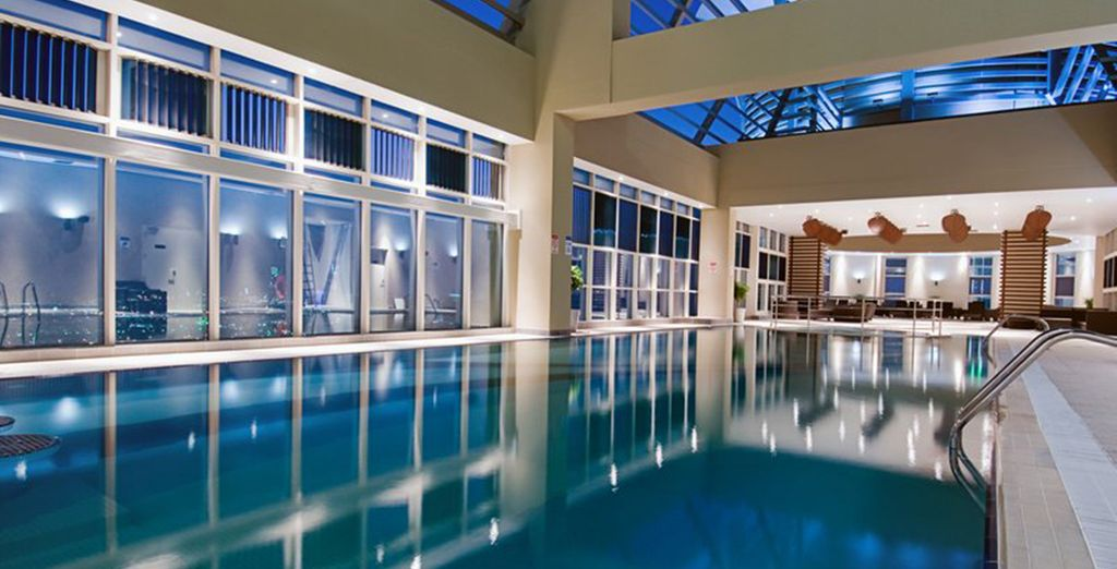 Glide through the pool while you gaze out at the panoramic views