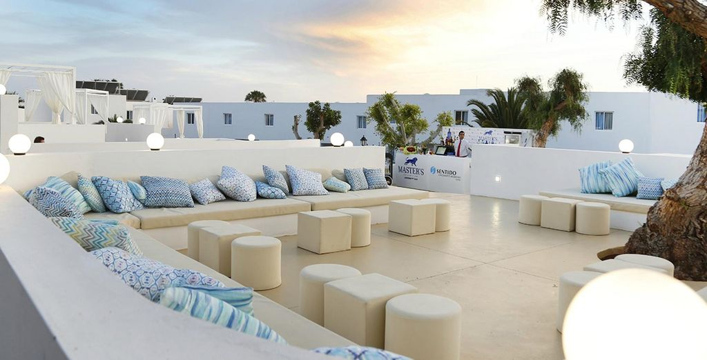 Enjoy a drink on the terrace in the evening