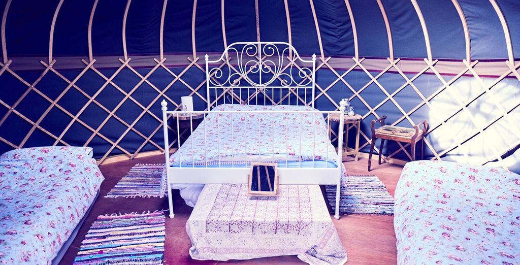 Bed down in the English countryside