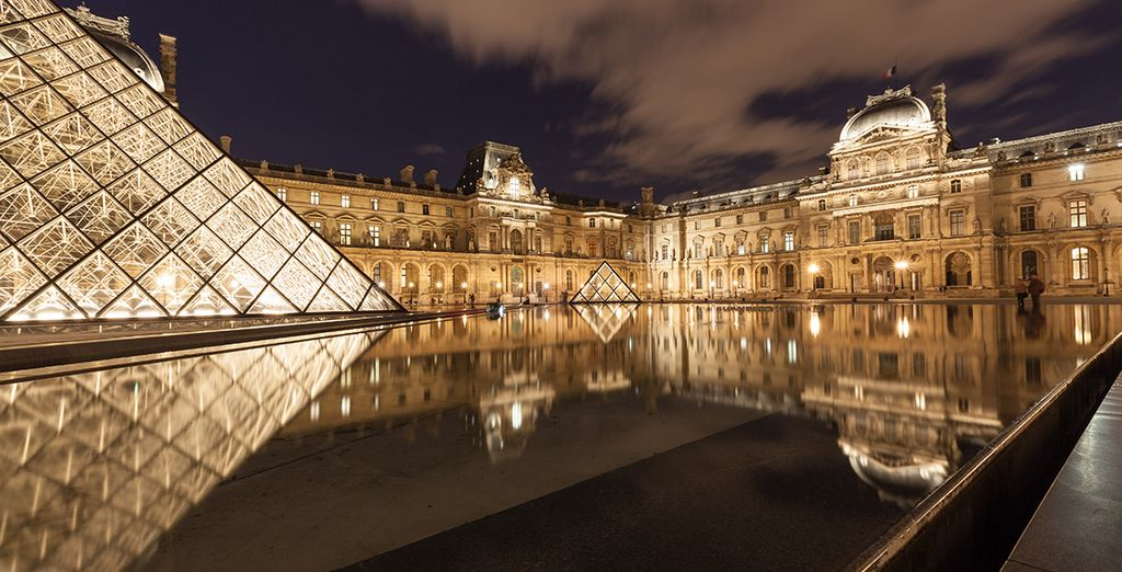 ...The impressive Louvre Museum...