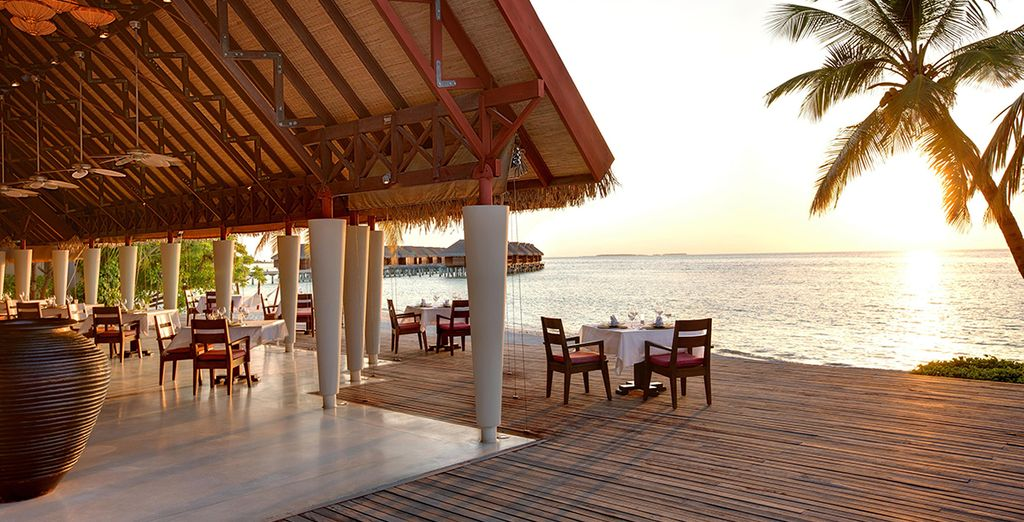 Finish the perfect day by dining here with views of the sunset