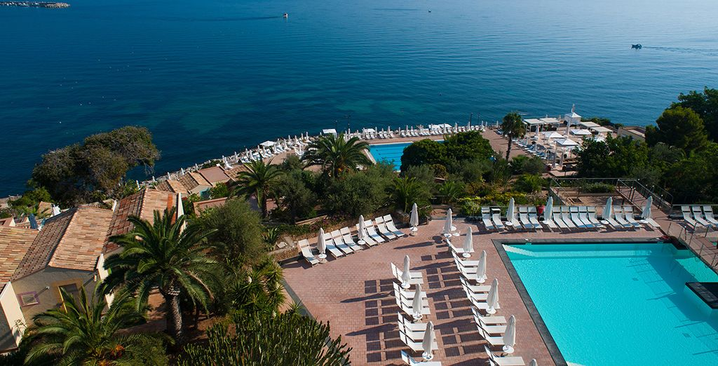 At this Sicilian sea front escape...