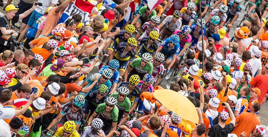 Soak up the atmosphere and anticipation in the days leading up to the tour's arrival