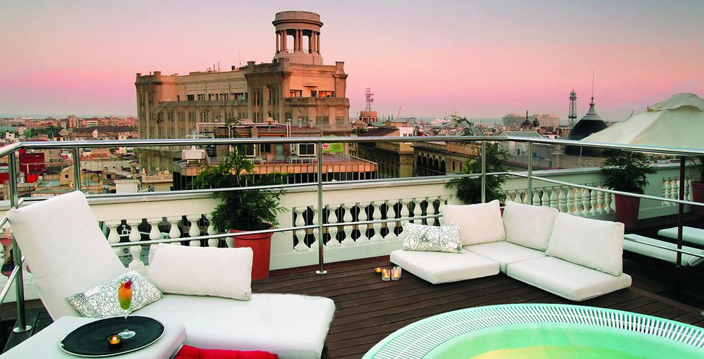 Enjoy spectacular rooftop views of the city of Barcelona