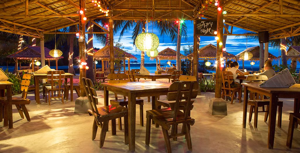 Feast on authentic Thai cuisine...