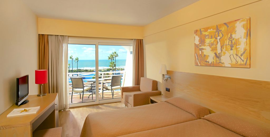 Our members can enjoy a Sea View room