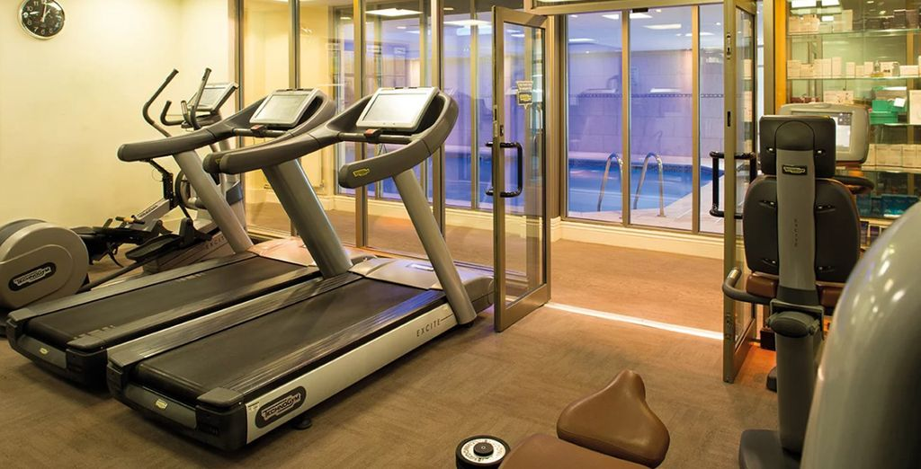 Work up an appetite at the fitness centre