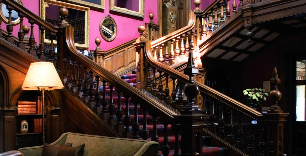Make your way up the grand sweeping staircase...