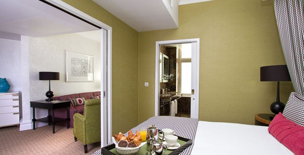 The modern guestrooms