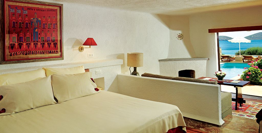 Each room is complimented by traditional decor (pictured: Deluxe Bungalow)