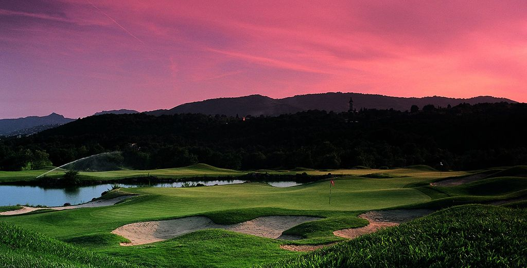 Make the most of the extensive golf grounds
