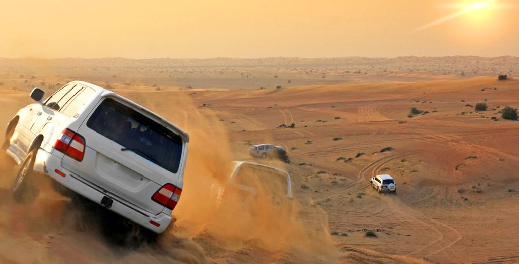 You can add a Desert Safari at the next stage of the booking