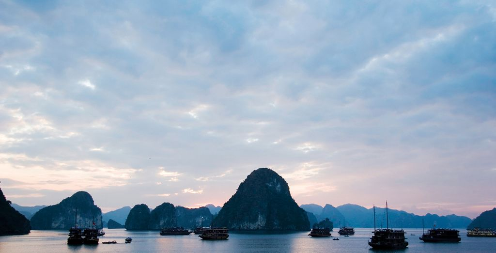 Then move onto Ha Long Bay, easily one of Vietnam's most beautiful natural sites