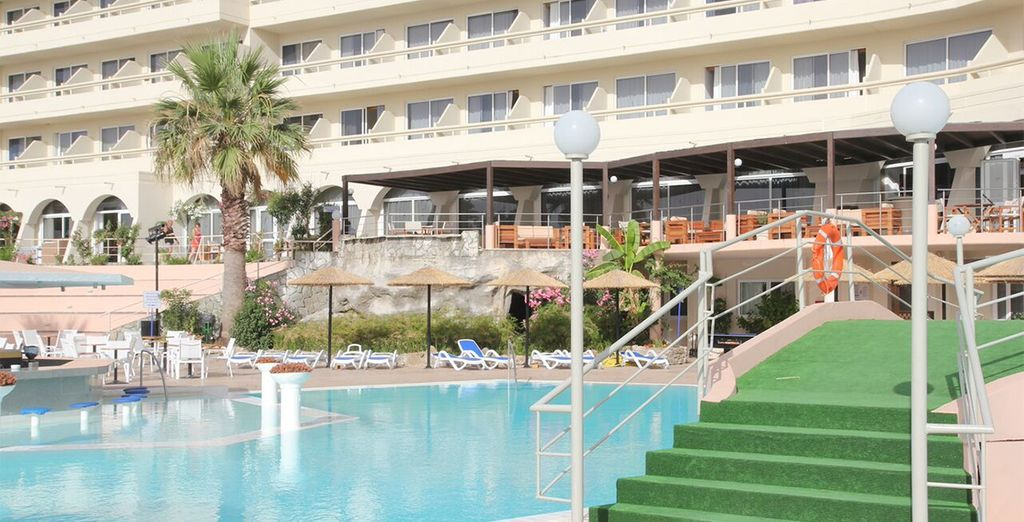 For a 7, 10 or 14 night stay at the Dessole Olympos Beach Resort