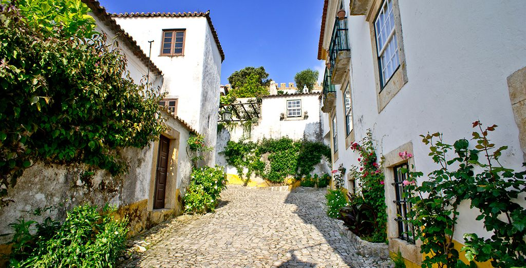 You are close to pretty towns such as Obidos