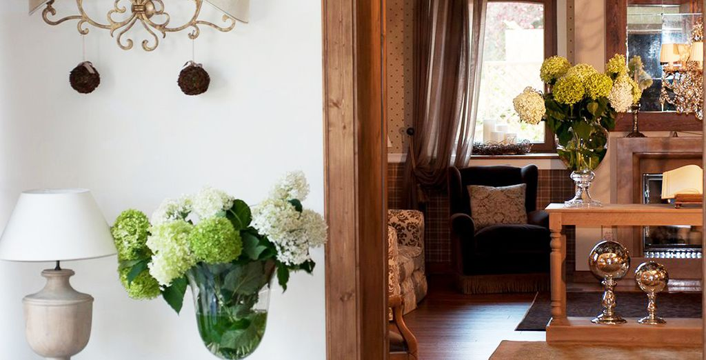 With rustic chic decor