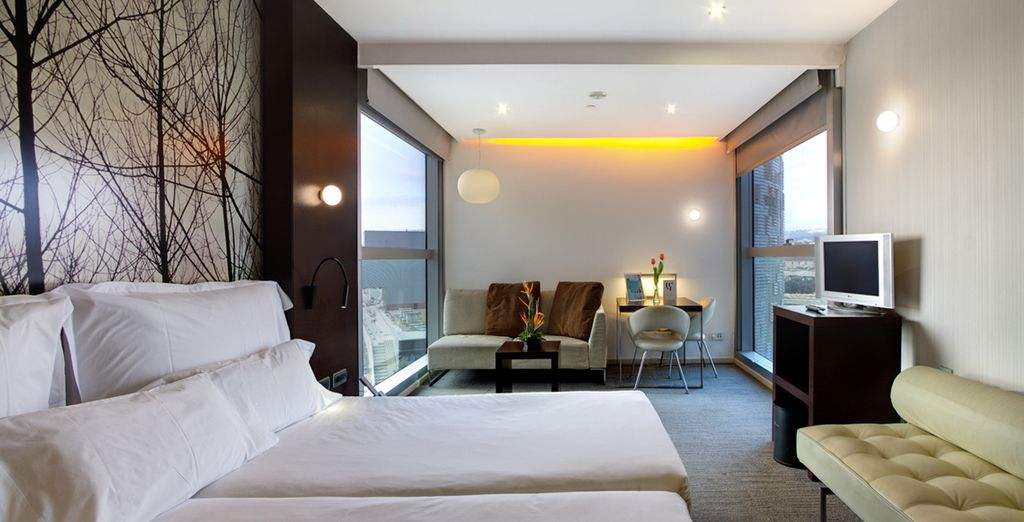 Stay in a chic Silken Club Room