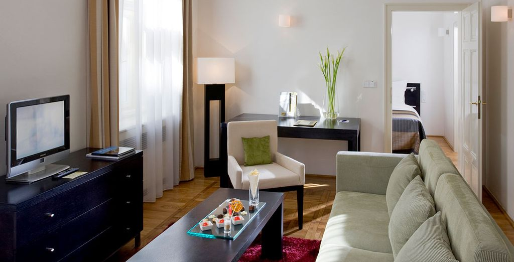 Our members will stay in a spacious and stylish Junior Suite