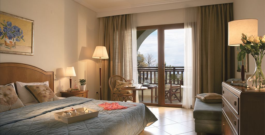 Stay in a cool sea view room
