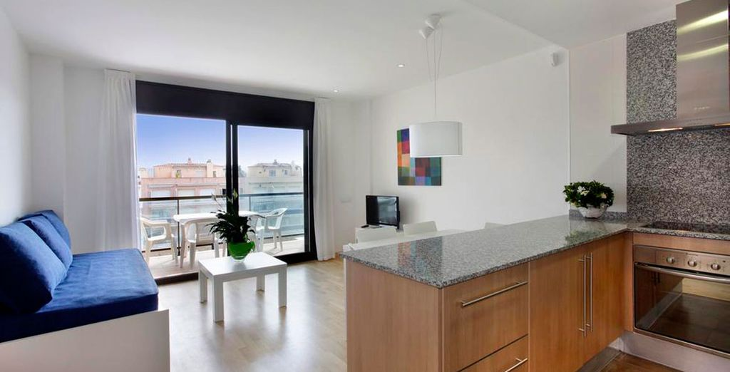 Our members can enjoy a 3 room apartment