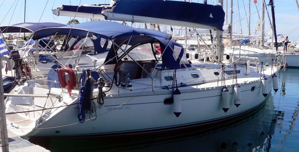 On board a superb yacht!