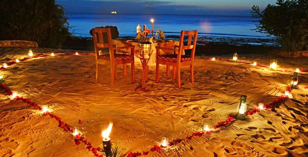 Or opt for private beach dining for a really romantic experience
