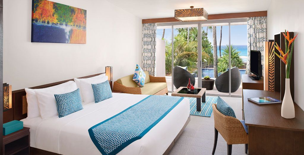Where you'll be staying in an ocean view room