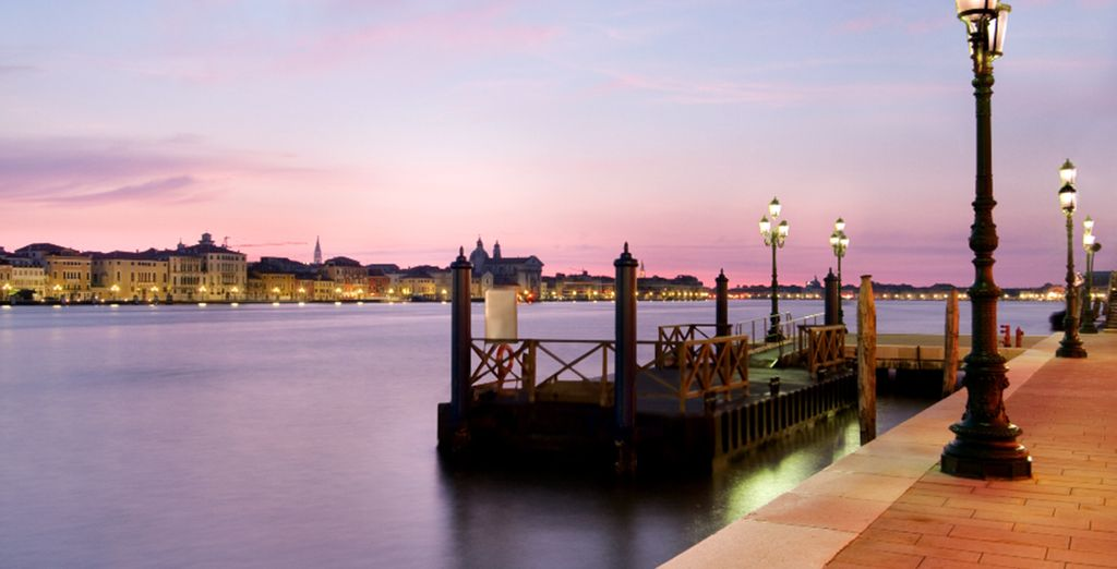 On Giudecca Island, with a free shuttle to the historic city centre