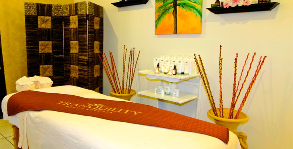 Then head to the spa to ease into the holiday mood