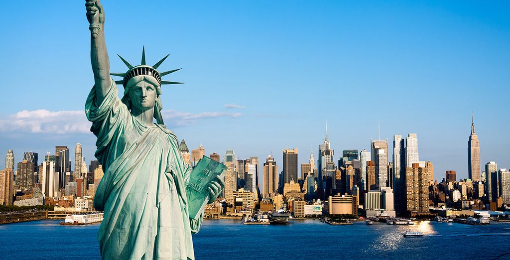 Visit iconic sights such as the Statue of Liberty