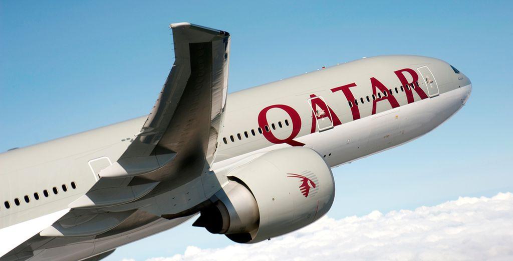 Enjoy a smooth flight with Qatar Airways