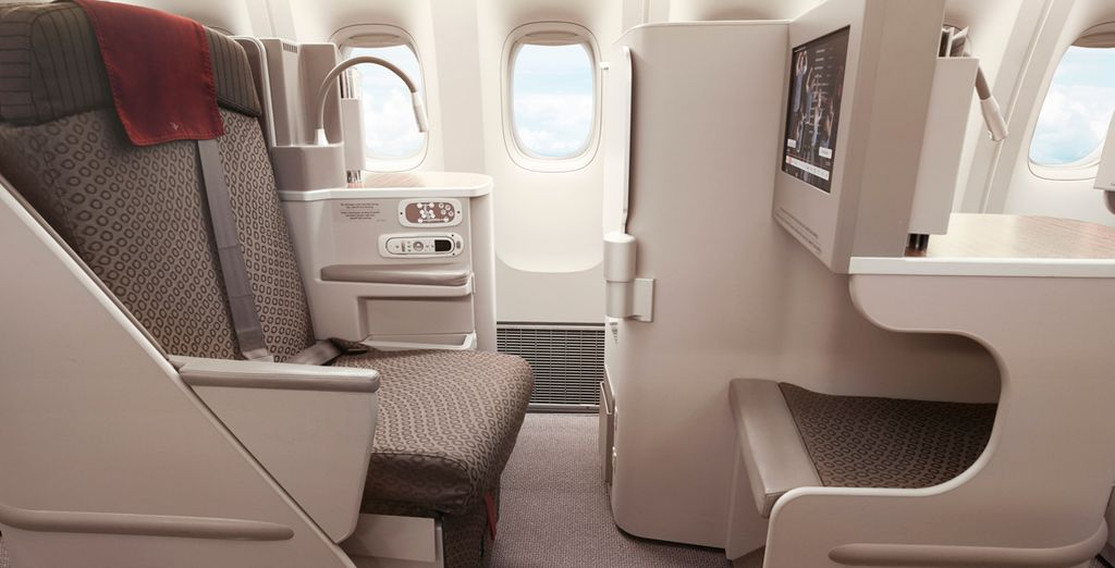 And we've procured an exclusive discount on one of only seven 5-star airline carriers