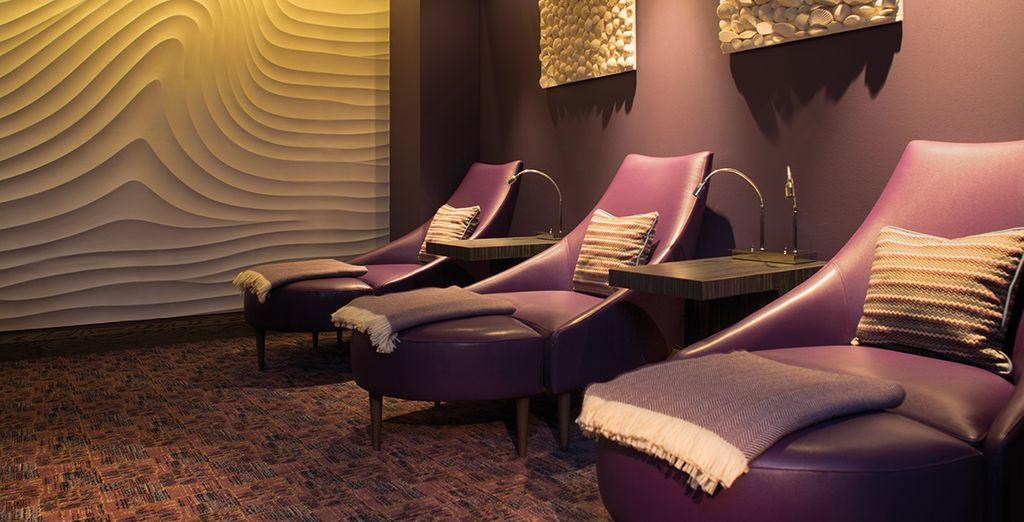 Or head to the spa's relaxation room