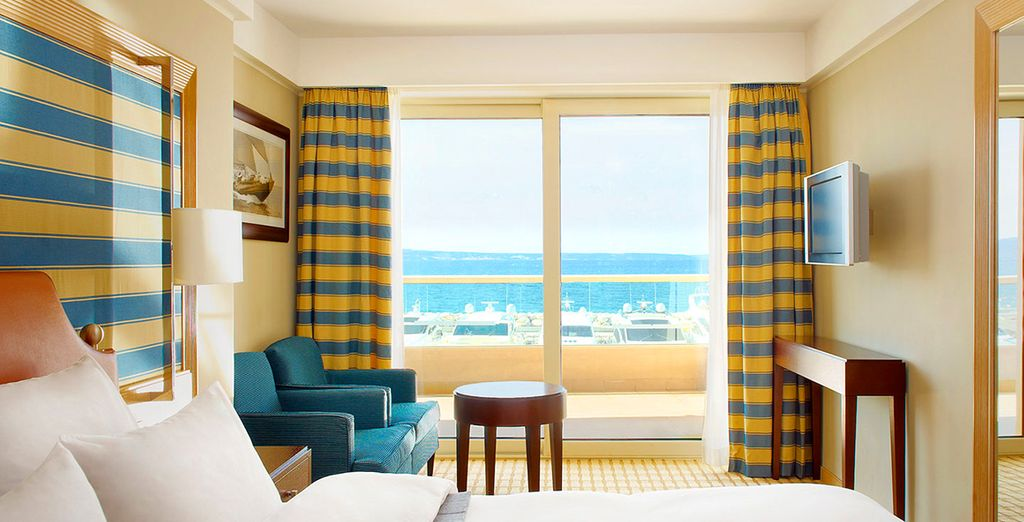 Wake up each morning to spectacular sea views
