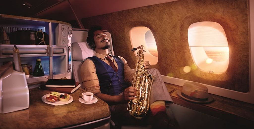 In Business Class you will enjoy refined touches and plenty of legroom
