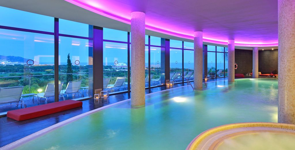 Chill out in the spa with fabulous views of the city