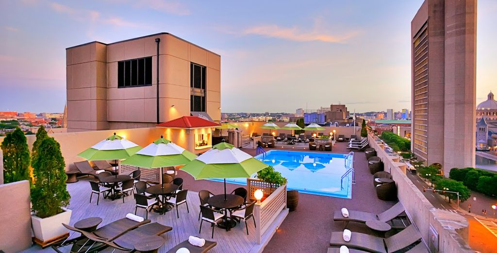 With its superb rooftop swimming pool - a delightful haven to return to