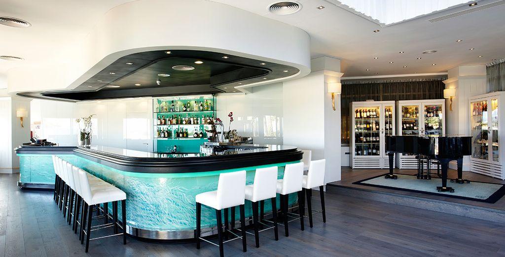Enjoy a drink in the superb hotel bar
