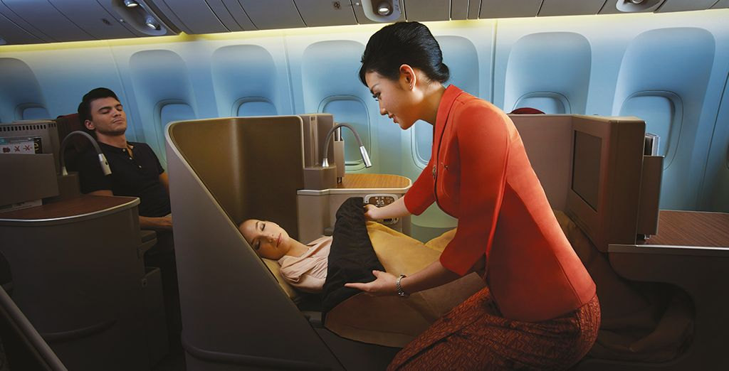 Business class offers the ultimate comfort