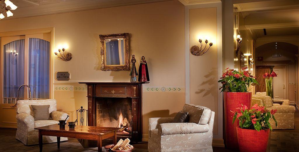 Admire the hotel's decor