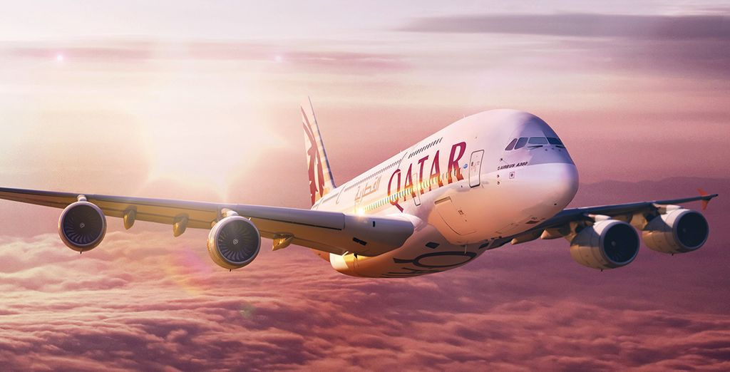 Book your flights with Qatar Airways to enter to win back the cost of your holiday (up to £2500). T&Cs apply.