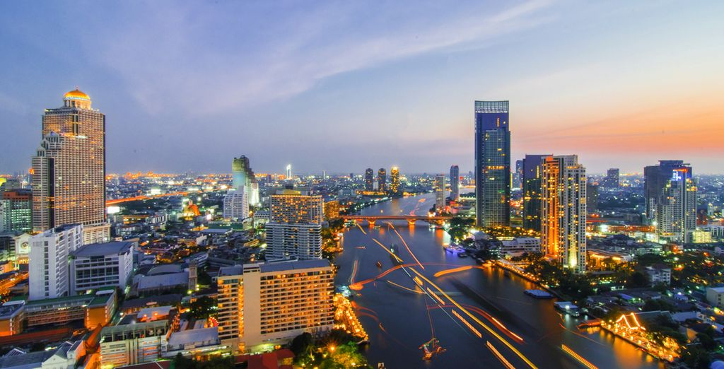 In the bright lights of Bangkok
