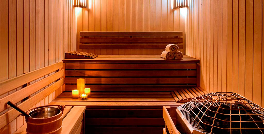 Or warm up in the sauna