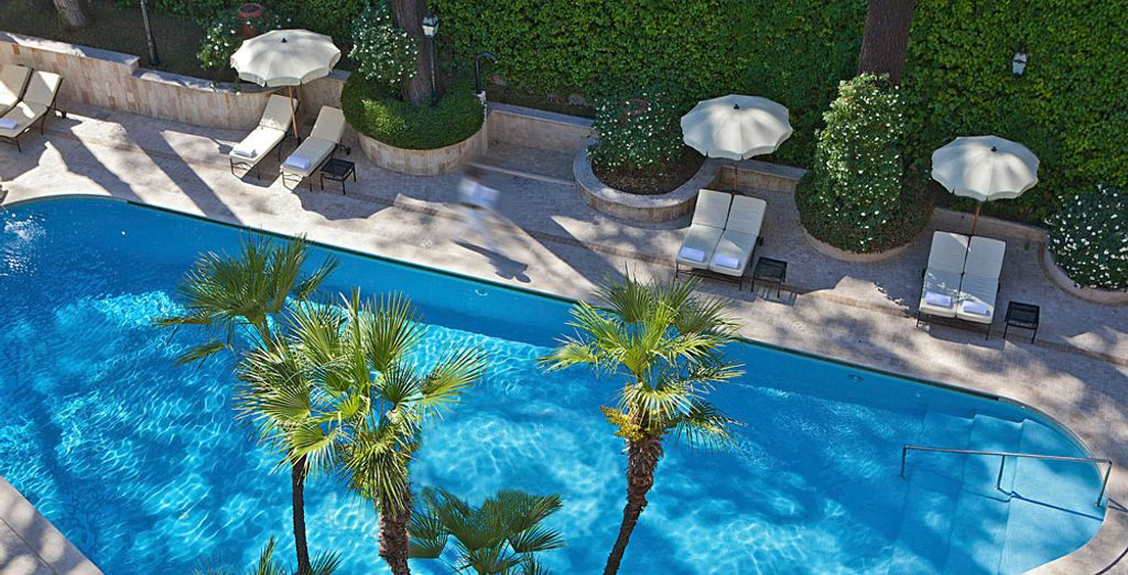 Or cool off with a dip in the hotel's pool
