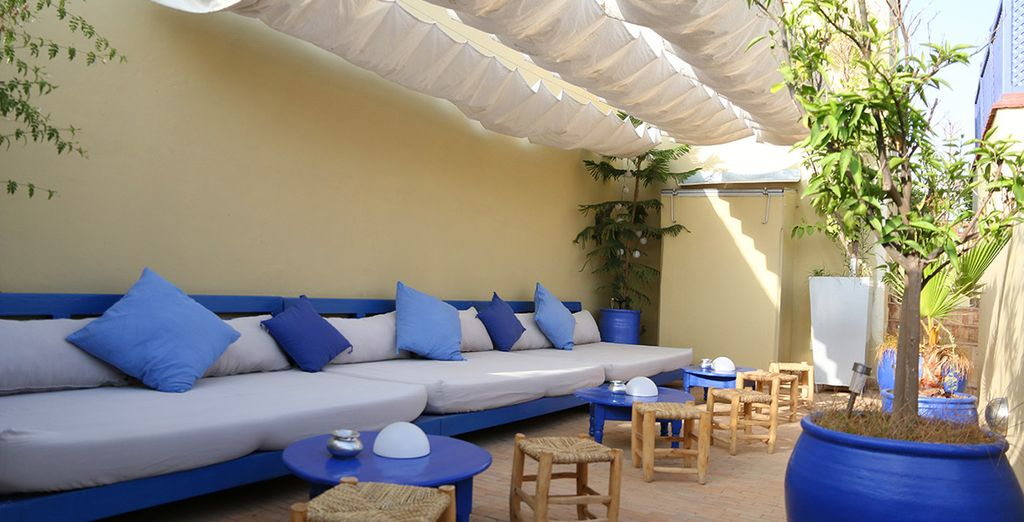 Relax on the lovely terrace