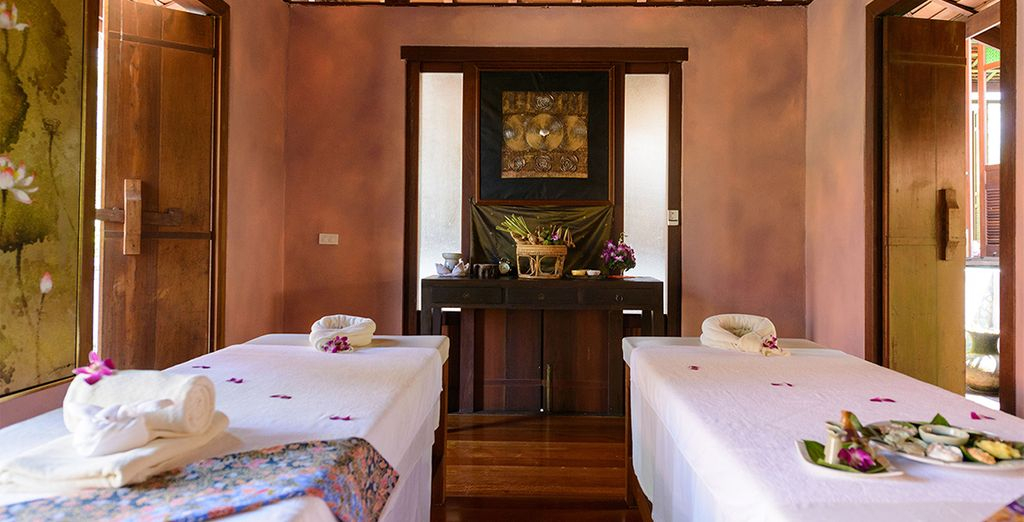 Then relax with a massage at the spa